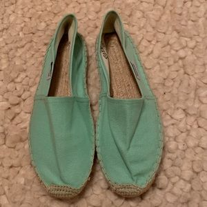 NWOT! Soludos for J Crew Sea Green Espadrilles